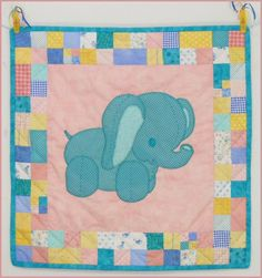 Stuffies Ellie the Elephant Baby Quilt Pattern - I like the square shape, might be better suited for a duckie