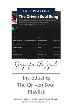The Driven Soul Song, a playlist by on Spotify Free Playlist, Soul Songs, High Energy, Like You, Knowing You, Music, Violent Femmes, Musica, Musik