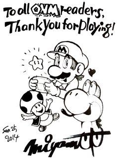 Supper Mario Broth - Shigeru Miyamoto's sketch for the last issue of. Shigeru Miyamoto, Mario, Nintendo, Sketch, Awesome Things, Video Games, Magazine, Fictional Characters, Sketch Drawing