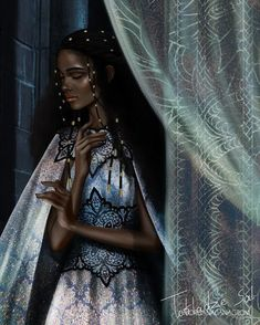 Nehemia Ytger by Throne of Glass. Crown of Midnight. Sarah J Maas Celaena Sardothien, Aelin Ashryver Galathynius, Throne Of Glass Books, Throne Of Glass Series, Throne Of Glass Fanart, Black Girl Art, Black Women Art, Art Women, Art Girl