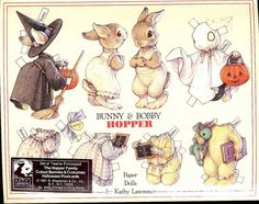 BUNNY AND BOBBY HOPPER by Kathy Lawrence 1 of 12 Postcards This is the only one I have.