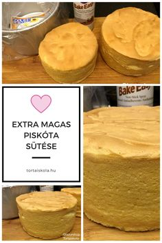 extra-magas-piskota Torte Cake, Hungarian Recipes, Baking And Pastry, Diabetic Recipes, Cake Designs, Biscotti, Cookie Recipes, Food And Drink, Sweets