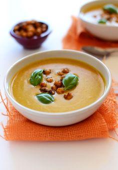 Sweet Potato Coconut Curry Soup! minimalistbaker