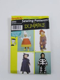 Toddler Costumes;Candy Corn, Witch, Scare Crow, Skeleton Simplicity Sewing for Dummies 3603 - Uncut by NeedleandFootSews on Etsy