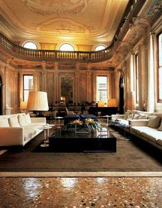 Monaco & Grand Canal Hotel in Venice - Living Room Monaco, Grand Canal, Honeymoon Vacations, Travel Agency, Italy Travel, Places Ive Been, Mansions, Interior Design, Luxury