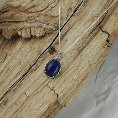 Sterling Silver Pendant/Necklace  Lapis Lazuli by CJsRocksGems