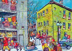 Miyuki Tanobe Jean Paul Lemieux, Book Illustration, Illustrations, Vintage Magazines, Street Art, Art Gallery, My Arts, Images, Museum