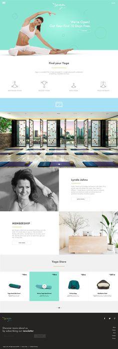 YogaLaVie website concept.