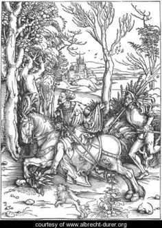 The Knight and the Landsknecht - Albrecht Durer - www.albrecht-durer.org