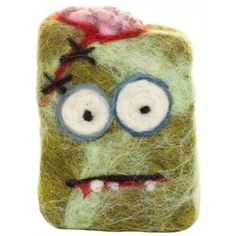 ZOMBIE ATE MY BRAINS FELTED SOAP