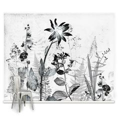 Couture Flower Press Mural, , large