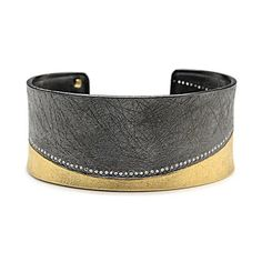 I'm just a little bit obsessed with this Todd Reed Textured Cuff Bracelet with Diamonds...