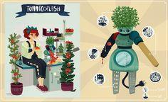 Personal Project - Friendly Robots - Jelena Hallmann-Haeschke Illustration