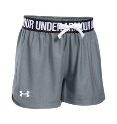 Under Armour Big Girls Play Up Running Shorts - Basketball Shorts Girls, Adidas Basketball Shoes, Kids Shorts, Wsu Basketball, Volleyball, Basketball Academy, Basketball Tickets, Basketball Season, Basketball Players