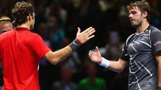 Davis Cup final: Roger Federer and Stanislas Wawrinka play down row