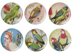 prachtig melamine bord 'vintage bird' Rice | kinderen-shop Kleine Zebra