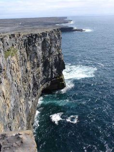 Dun Aengus.  When I came home from Ireland with a broken arm, I told everyone my dad threw me off the cliff.