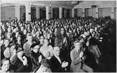 """Paramahansa #Yogananda with a gathering in Minneapolis in 1927, from the film """"Awake: The Life of Yogananda.""""—Review in the Boston Globe"""