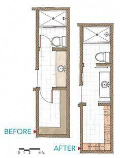 Harmonious Bathroom Remodel These Details Bathroom Floor Plans Narrow Bathroom Bathroom Plans