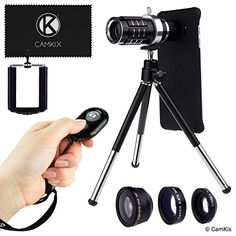 Camera Lens and Shutter Remote Kit for Samsung Galaxy S7  S7 Edge  Incl Bluetooth Camera Remote 12x Telephoto Fisheye Macro Wide Angle Lens Tripod Holder Case 2x Bag Cleaning Cloth >>> Continue to the product at the image link. Note: It's an affiliate link to Amazon