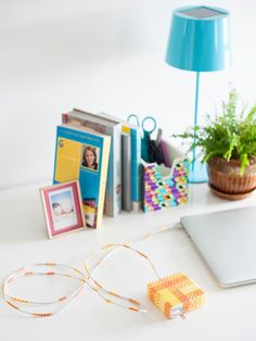 Beautify a laptop charger with washi tape! http://www.hgtv.com/design/make-and-celebrate/handmade/10-ways-to-transform-your-space-with-washi-tape-pictures?soc=pinterest