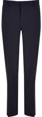 River Island Mens Navy premium wool-blend slim suit pants