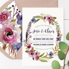 original_bohemian-watercolour-floral-wedding-stationery.jpg (900×900)