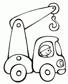 40 Creative Drawing Ideas and Topics for Kids - Kinderspiele Truck Coloring Pages, Printable Coloring Pages, Colouring Pages, Coloring Sheets, Coloring Books, Free Coloring, Drawing Sheets For Kids, Drawing Ideas Kids, Applique Patterns