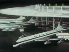 Pan Am Airlines (Pan American Airways) Boeing 707 TV Commercial 1954