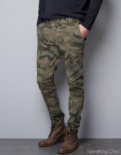 Zara Camoflauge Slim Fit Pants