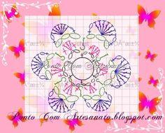 Gráfico de flor em crochê