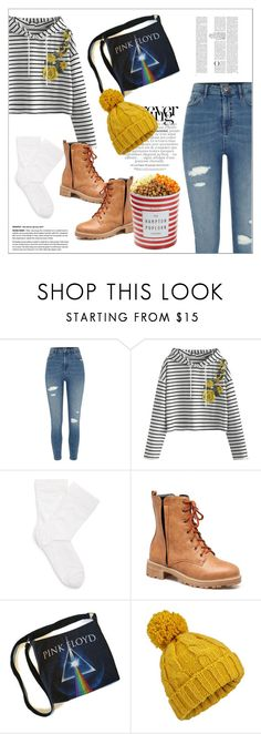 """""""Pink Floyd"""" by biange ❤ liked on Polyvore featuring River Island, Wolford, Miss Selfridge and The Hampton Popcorn Company"""