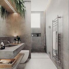 Badezimmer Minimal Interior Design Inspiration - How To Choo Bathroom Layout, Modern Bathroom Design, Bathroom Interior Design, Decor Interior Design, Small Bathroom, Interior Decorating, Bathroom Plants, Bathroom Sinks, Bath Tiles
