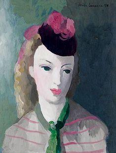 Мари Лорансен «Портрет женщины» 1938 г.