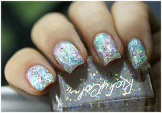 Opal Nail Art Using RickyColor Pastel Opal Nail Polishes | via @glamorable #bbloggers #beauty #nails #nailpolish #nailart #rickysnyc #rickycolor #opal #opalnails #opalnailart #flakie #glitter #pastel