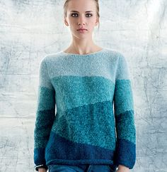Ravelry: Pullover pattern by Phildar Design Team-Free Pattern Crochet Shirt, Knit Crochet, Pull Mohair, Cable Knit Throw, Creative Knitting, Sweater Knitting Patterns, Chunky Yarn, Knitted Blankets, Knitwear