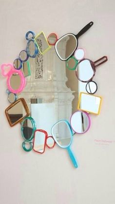 fun for a preteen girls room or at a Hair Salon wall. Room Ideas Bedroom, Teen Bedroom, Bedroom Decor, Girl Bedrooms, Diy Room Decor For Teens, Mirror Bedroom, Bedroom Colors, Wall Decor, My New Room