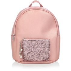 Monsoon Glitter Charm Mini Rucksack (€24) ❤ liked on Polyvore featuring bags, backpacks, mini zip bags, backpack bags, glitter bag, shoulder strap bags and day pack backpack