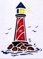 Lighthouse stencil recycle re use redesign free for Recycle stencil printable
