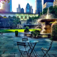 Bryant Park, NYC - www.facebook.com/lunchtimeviews
