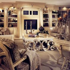 """It's a bit """"real housewives of New Jersey"""", but I have to say I love that coffee table…"""