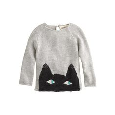 Baby Oeuf peeking cat sweater