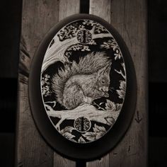 Pistol grip cap - squirrel    #engraving #handengraving #pistolgripcap #gunengraving #engraved #art #craftmanship #handcrafted #steel #squirrel #jagd #hunting