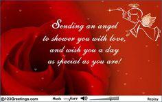 A pretty angel card!