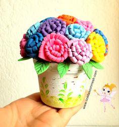 Flores en foamy-Goma eva.