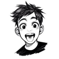 drawings of tattoo Cartoon Sketches, Cartoon Styles, Cartoon Art, Art Sketches, Pelo Anime, Character Drawing, Boy Character, Chibi, Cool Art Drawings