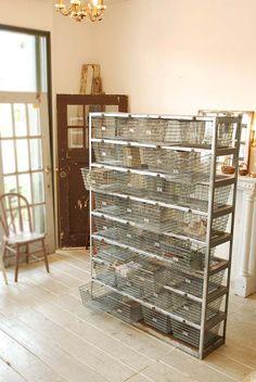 antique iron basket rack