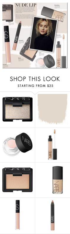 """The Perfect Nude Lip"" by a-a-nica ❤ liked on Polyvore featuring beauty, NARS Cosmetics, Beauty and nudelip"