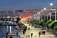 Thessaloniki at night, Macedonia, Greece Beautiful Islands, Beautiful Beaches, Places To Travel, Places To See, Travel Around The World, Around The Worlds, World Cities, Greece Travel, Greek Islands
