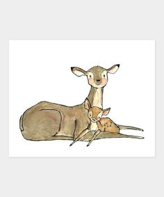 Take a look at this Baby Dear Print by trafalgars square on #zulily today!